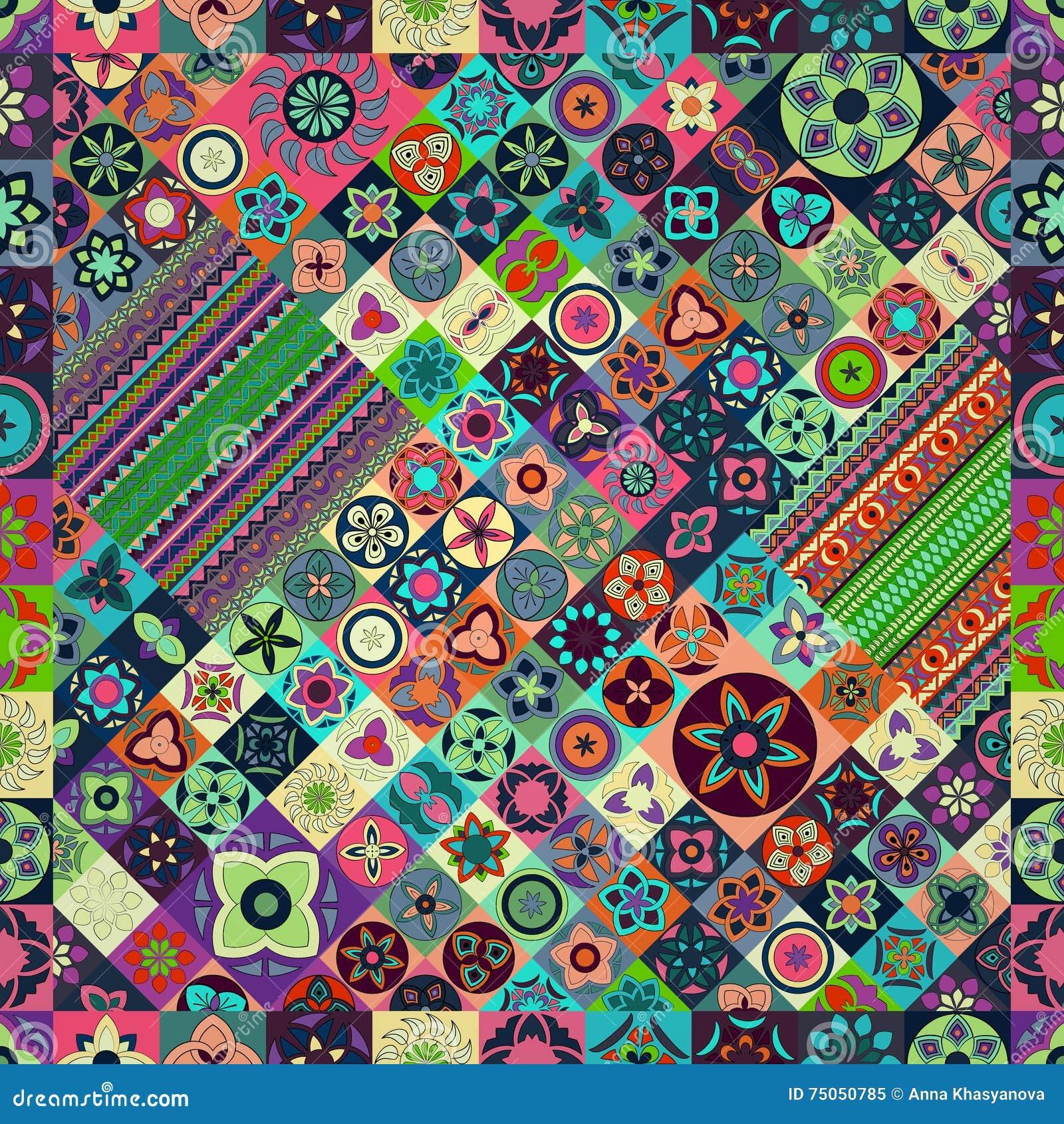 Bezszwowy wzoru elementu dekoracyjny rocznik sporządzić tła ręka Islam, język arabski, indianin, ottoman motywy