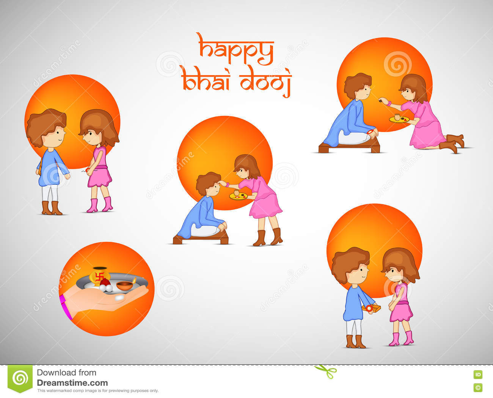 Bhai Dooj Background Stock Vector Illustration Of Auspicious 79152331