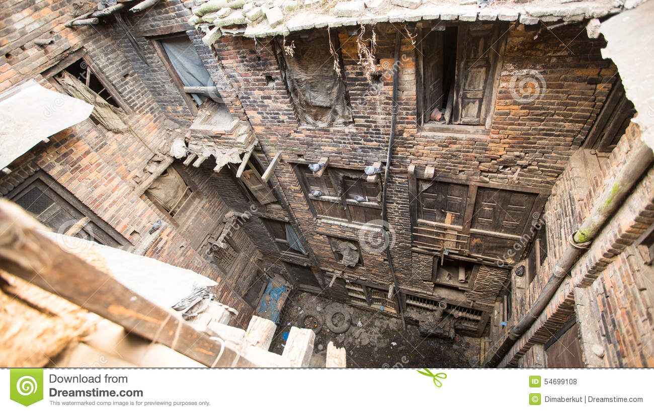 Bhaktapur Nepal Nepali House In The City Center