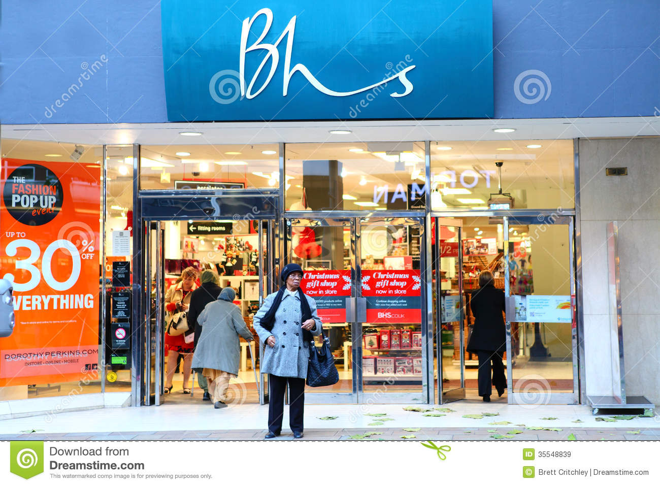 Bhs british home stores store front editorial stock image for British house store