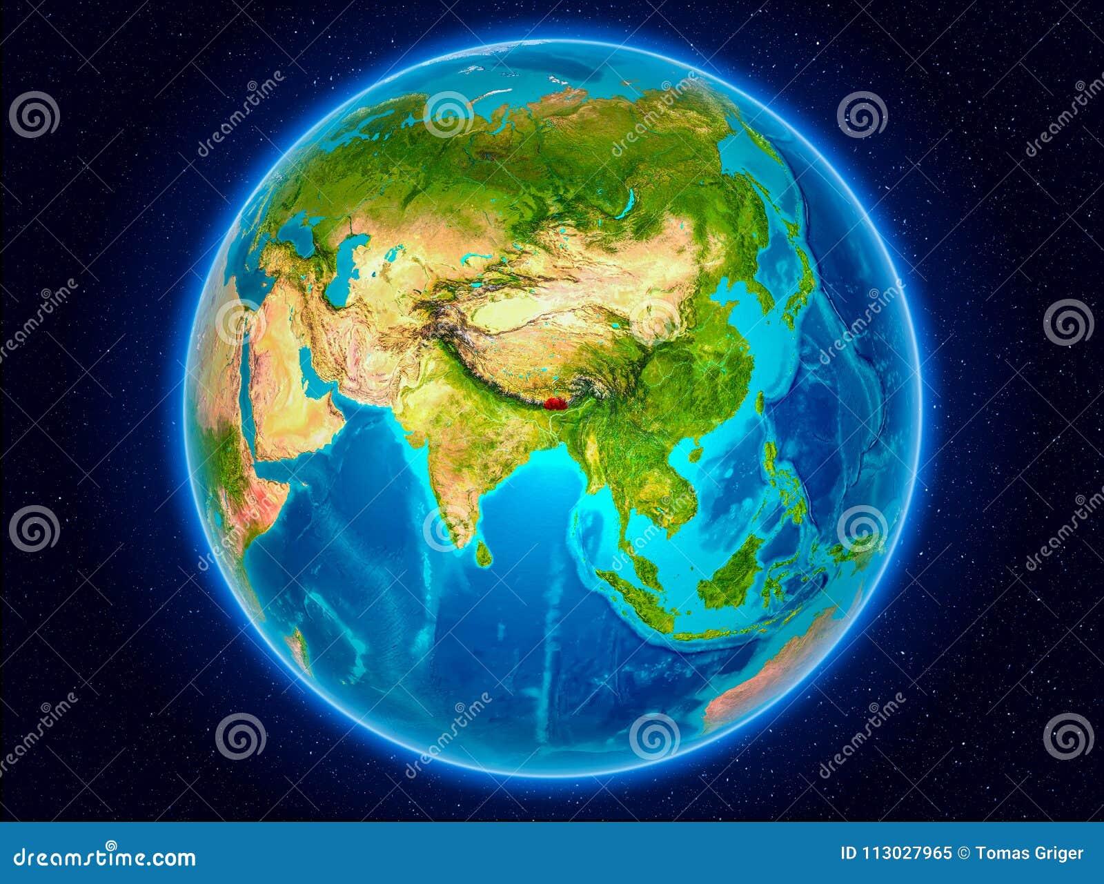 Bhután en la tierra