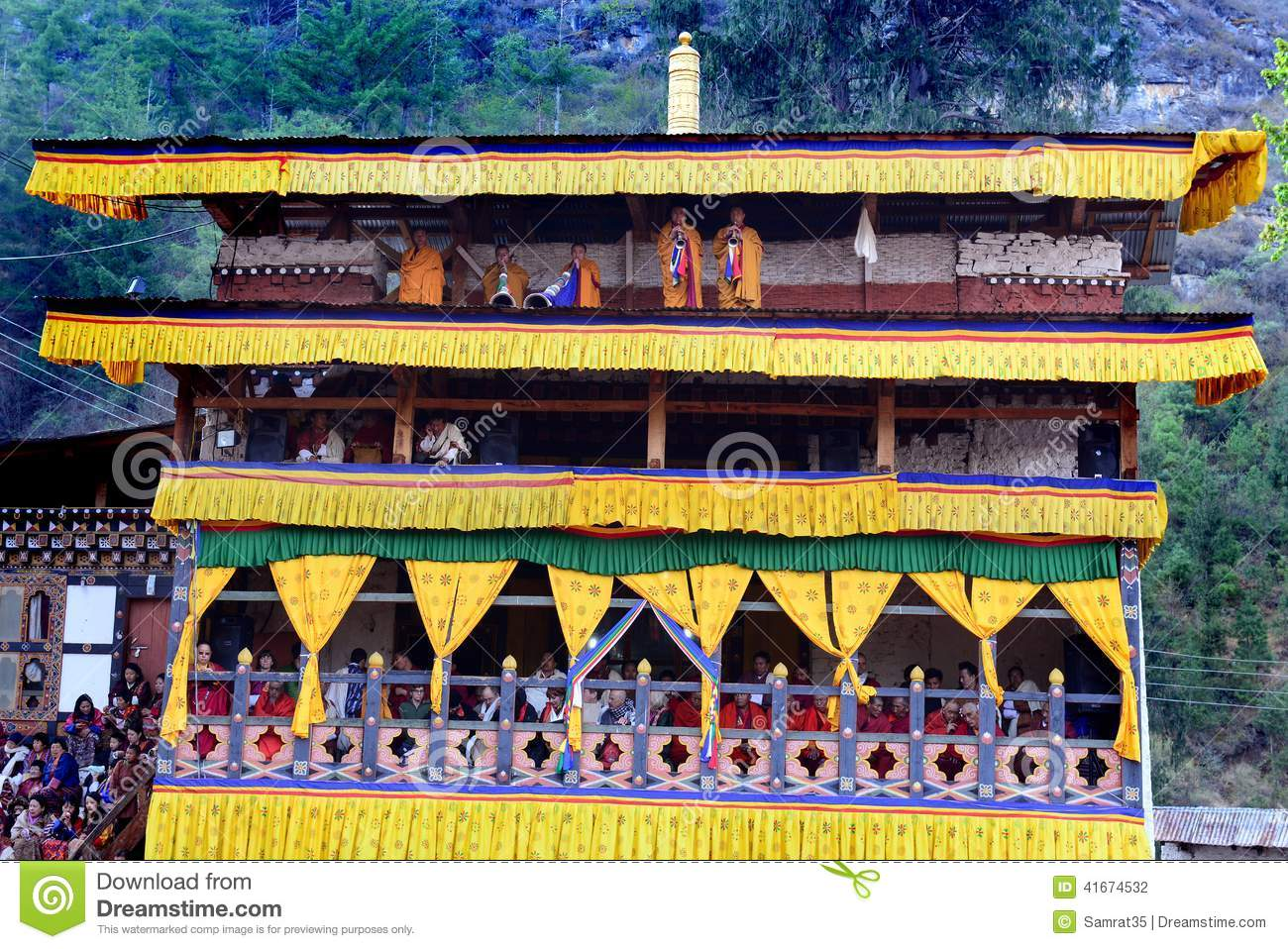 Bhutanese Monk editorial photography  Image of festival