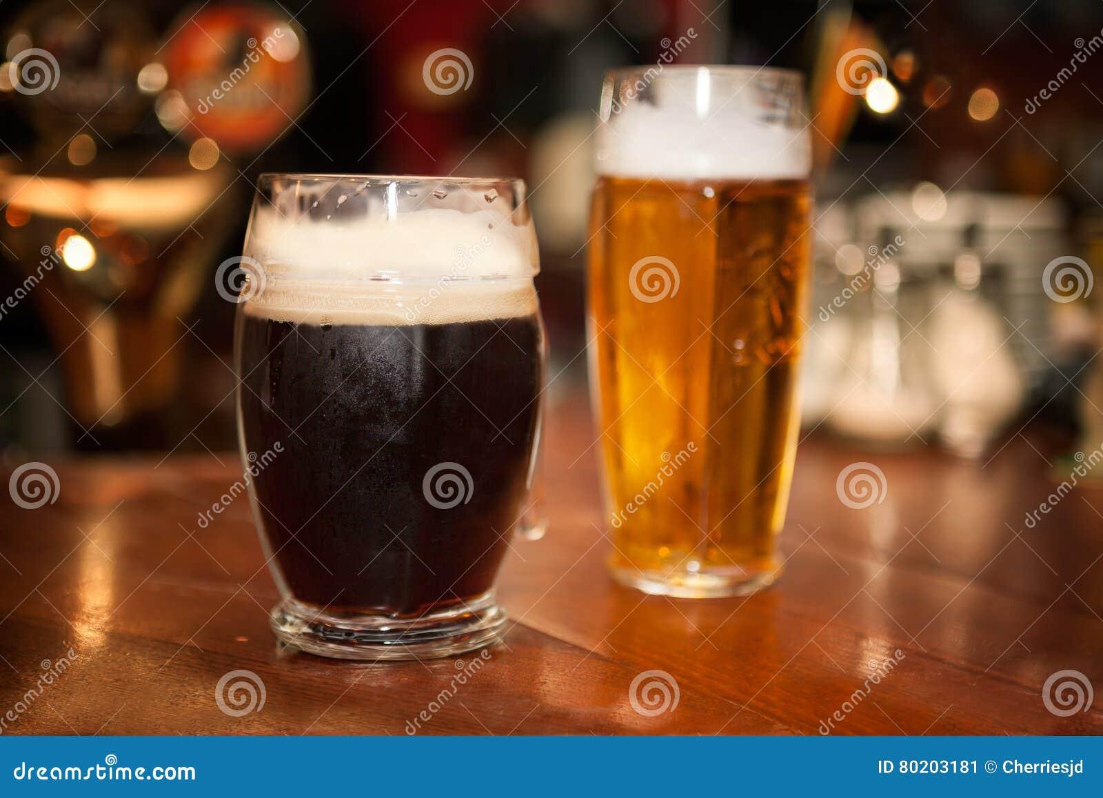 Bière en verres