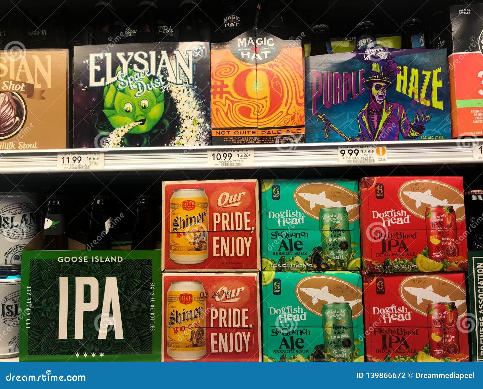 Bières d IPA à une épicerie