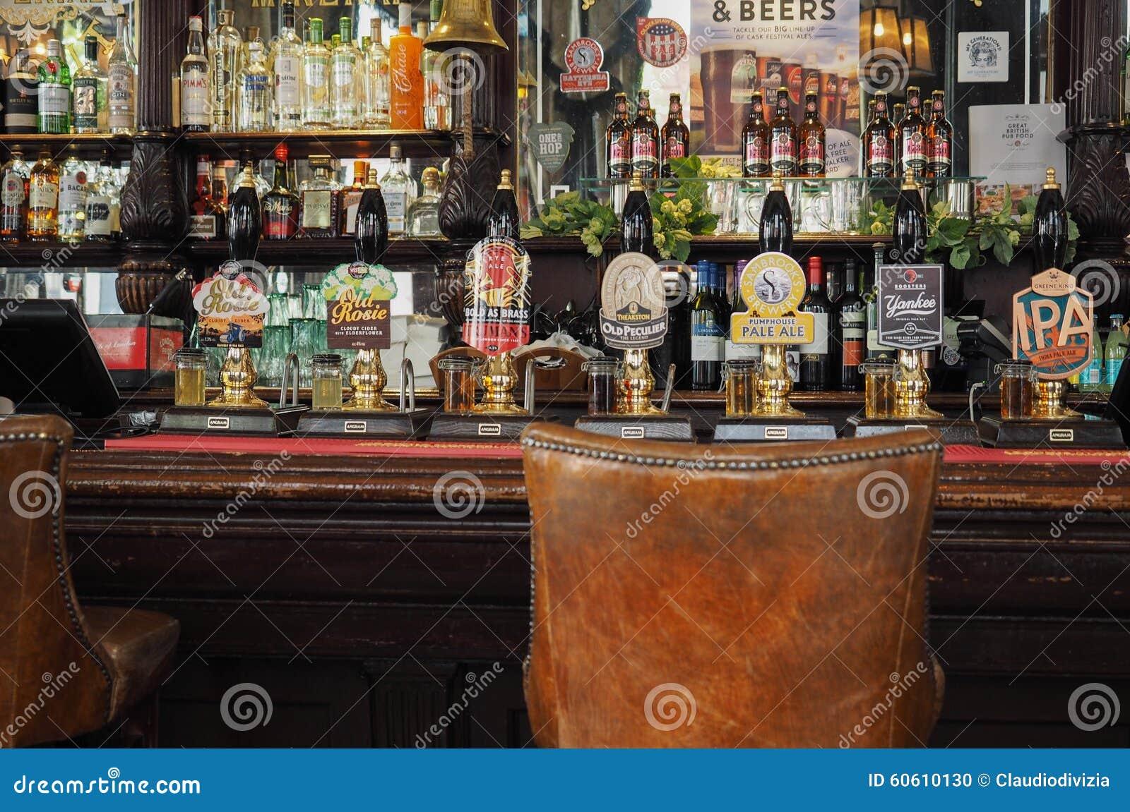 Bières en fûts à Londres