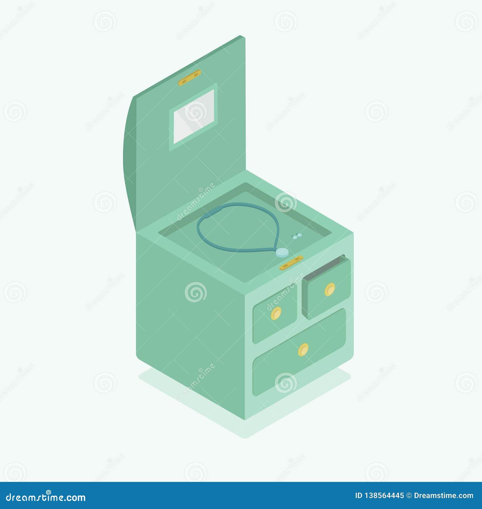Biżuterii pudełko, isometry