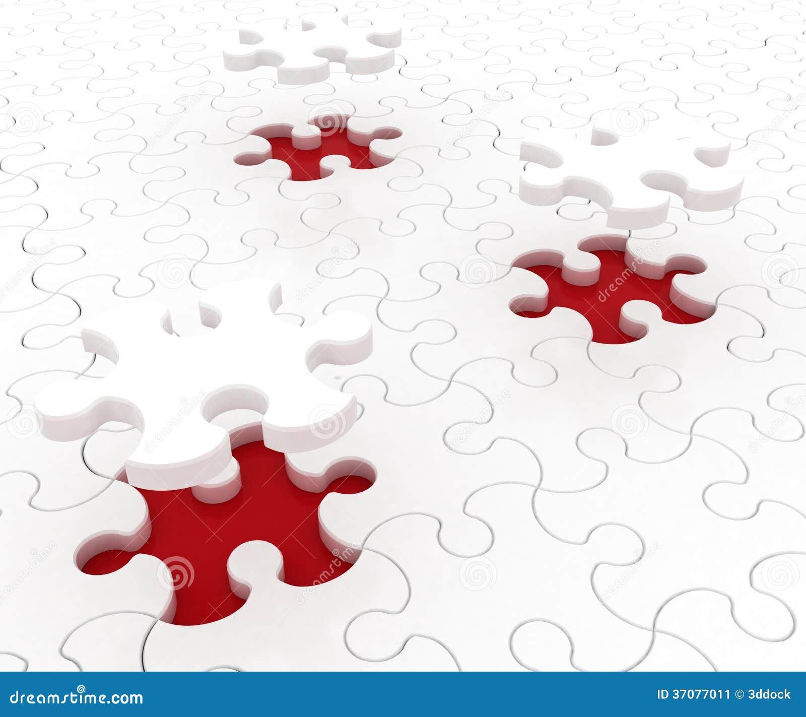 Download Biała łamigłówka Na Czerwonym Tle Ilustracji - Ilustracja złożonej z element, gather: 37077011