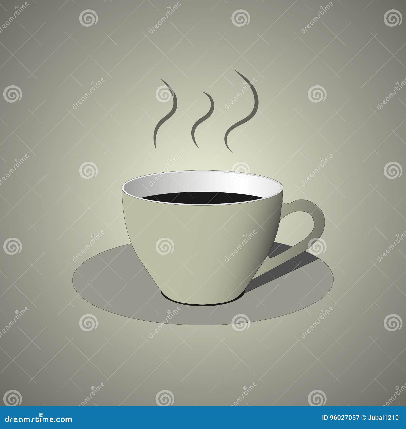 Biała filiżanki kawy ikona