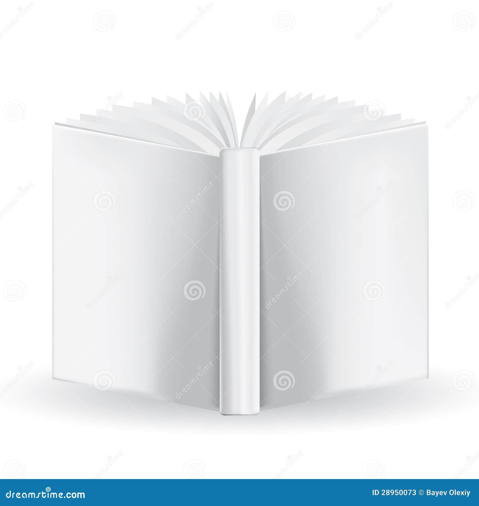 Biała książka dla twój swój projekta na białym tle. Mesa