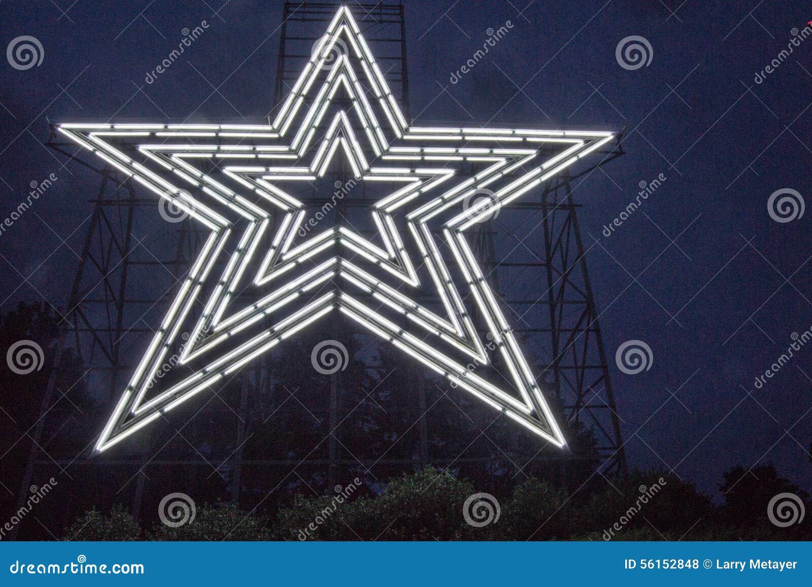 Biała Neonowa gwiazda