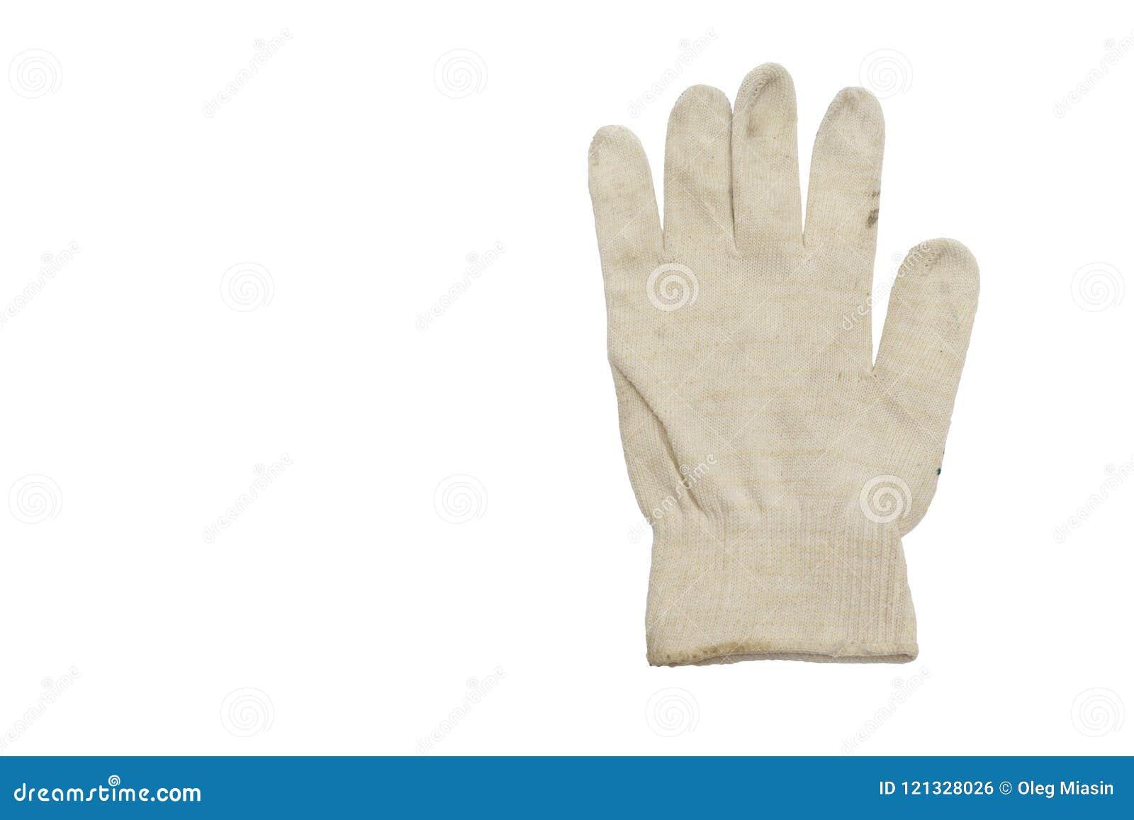 Biała rękawiczka bez grzać dato che manuału, pracuje