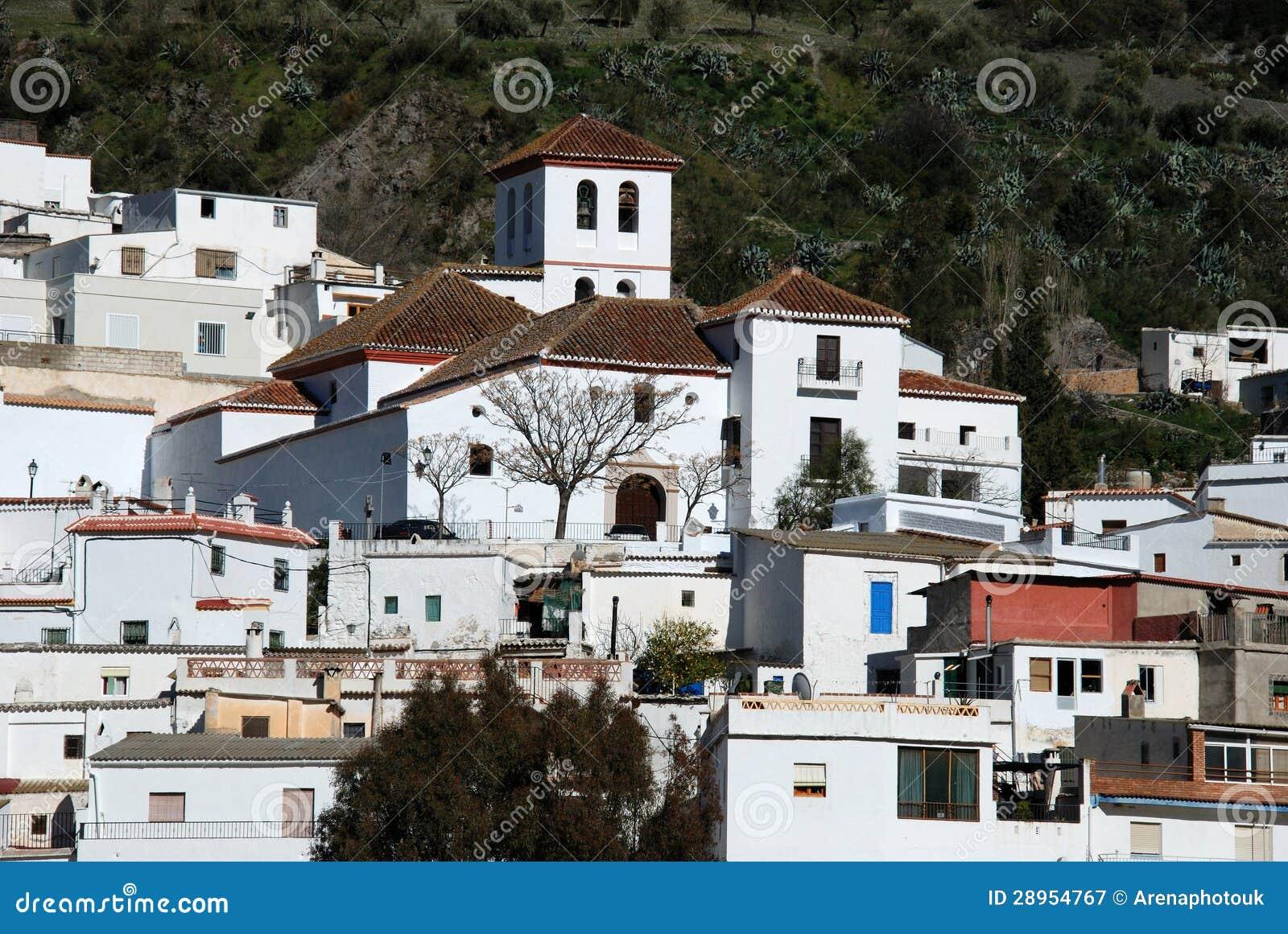 Biała wioska, Torvizcon, Andalusia, Hiszpania.