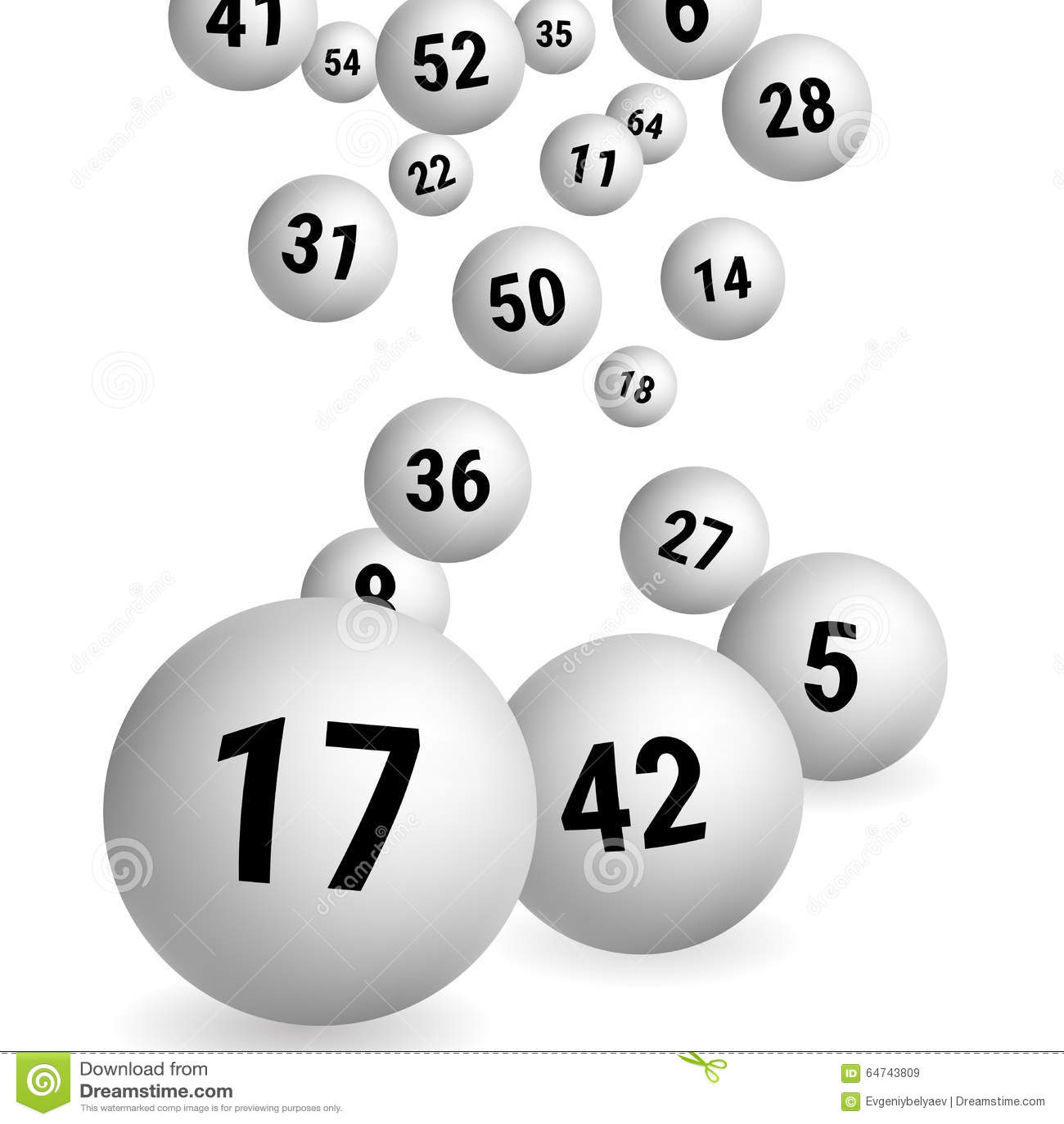Białe Bingo piłki Loterii Numerowe piłki również zwrócić corel ilustracji wektora