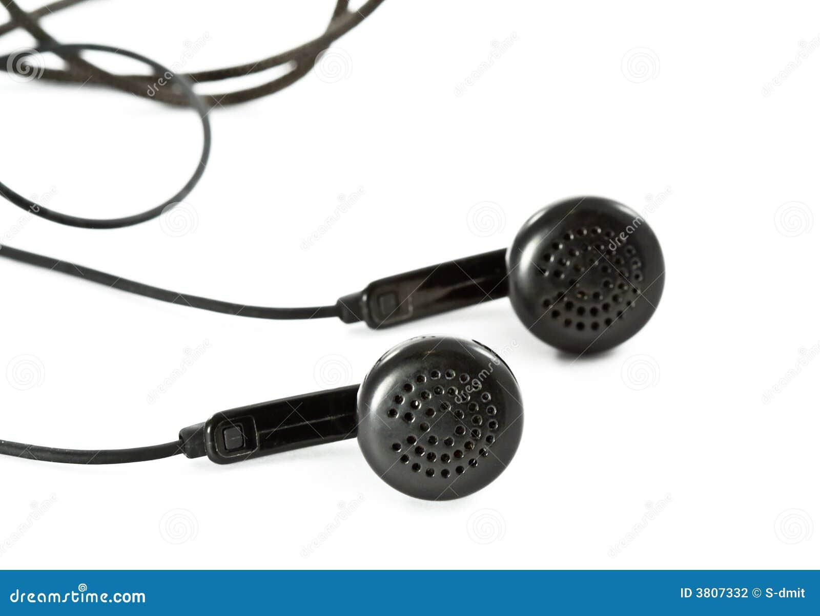 Białe czarne słuchawki