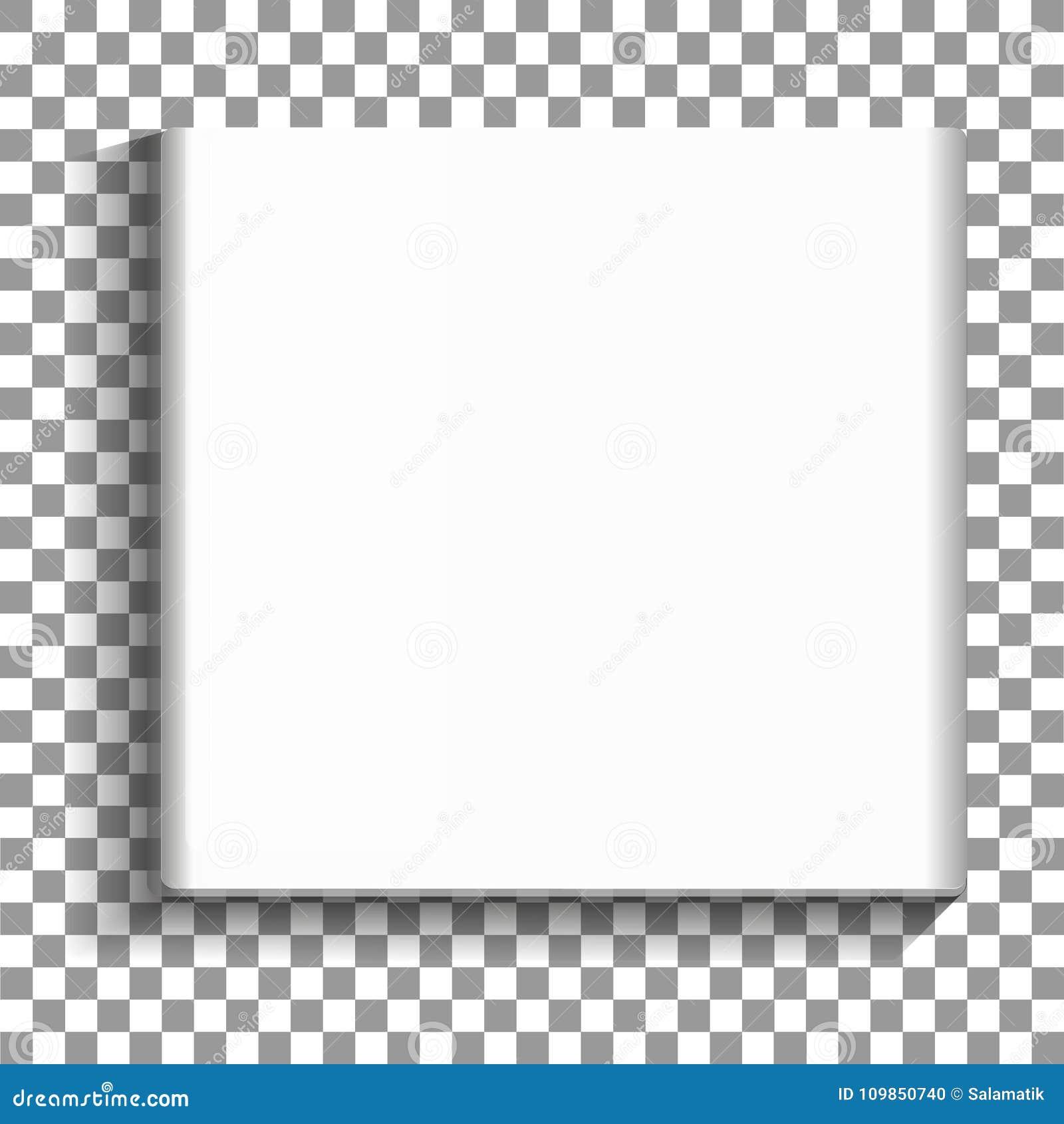 Białego Kwadrata Obrazka Pusta Rama Na Przejrzystym Tle