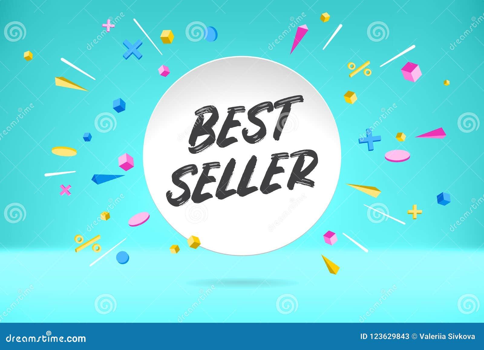 Białego papieru bąbla chmura z teksta bestselleru sprzedażą, robi zakupy promo sztandar, rabata projekt Wektorowy plakat z chmurą