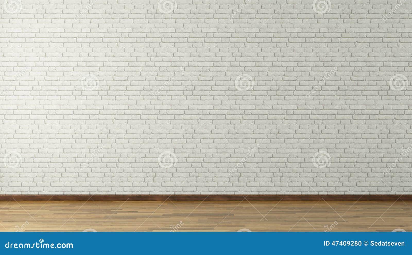 Biały ściana z cegieł