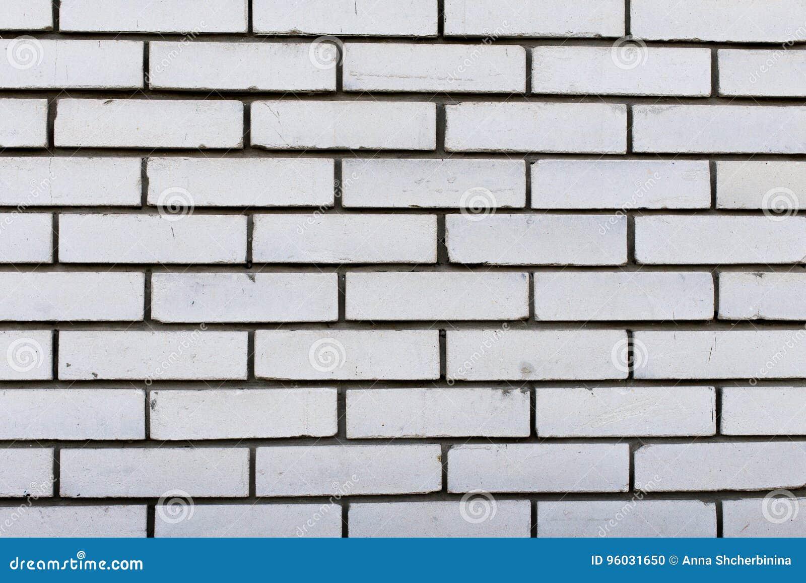 Biały ściana z cegieł Tła i tekstur fotografia