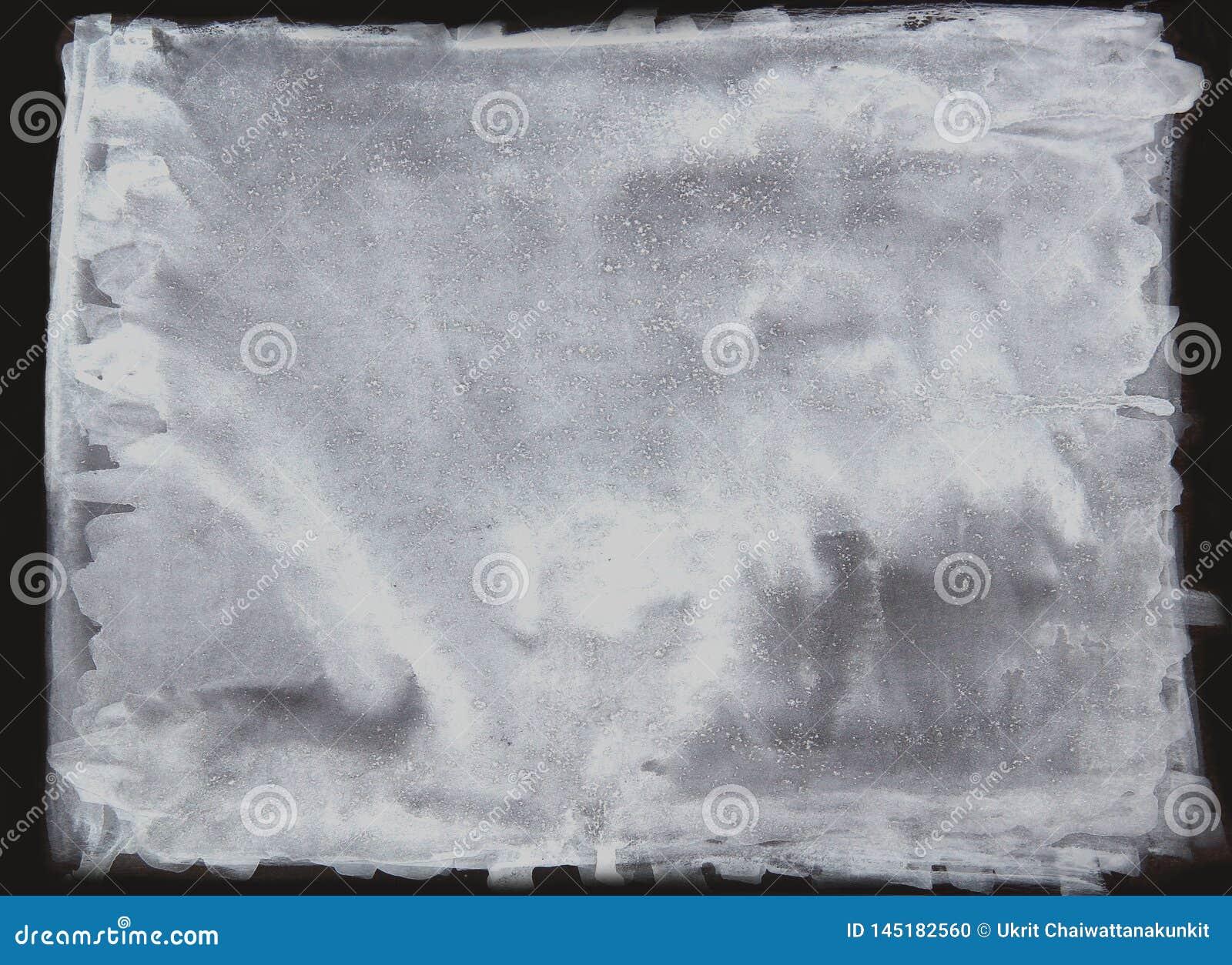 Biały akwareli muśnięcie, abstrakcjonistyczne farby muśnięcia plamy, biała inked brud plama splattered kiści pluśnięcia