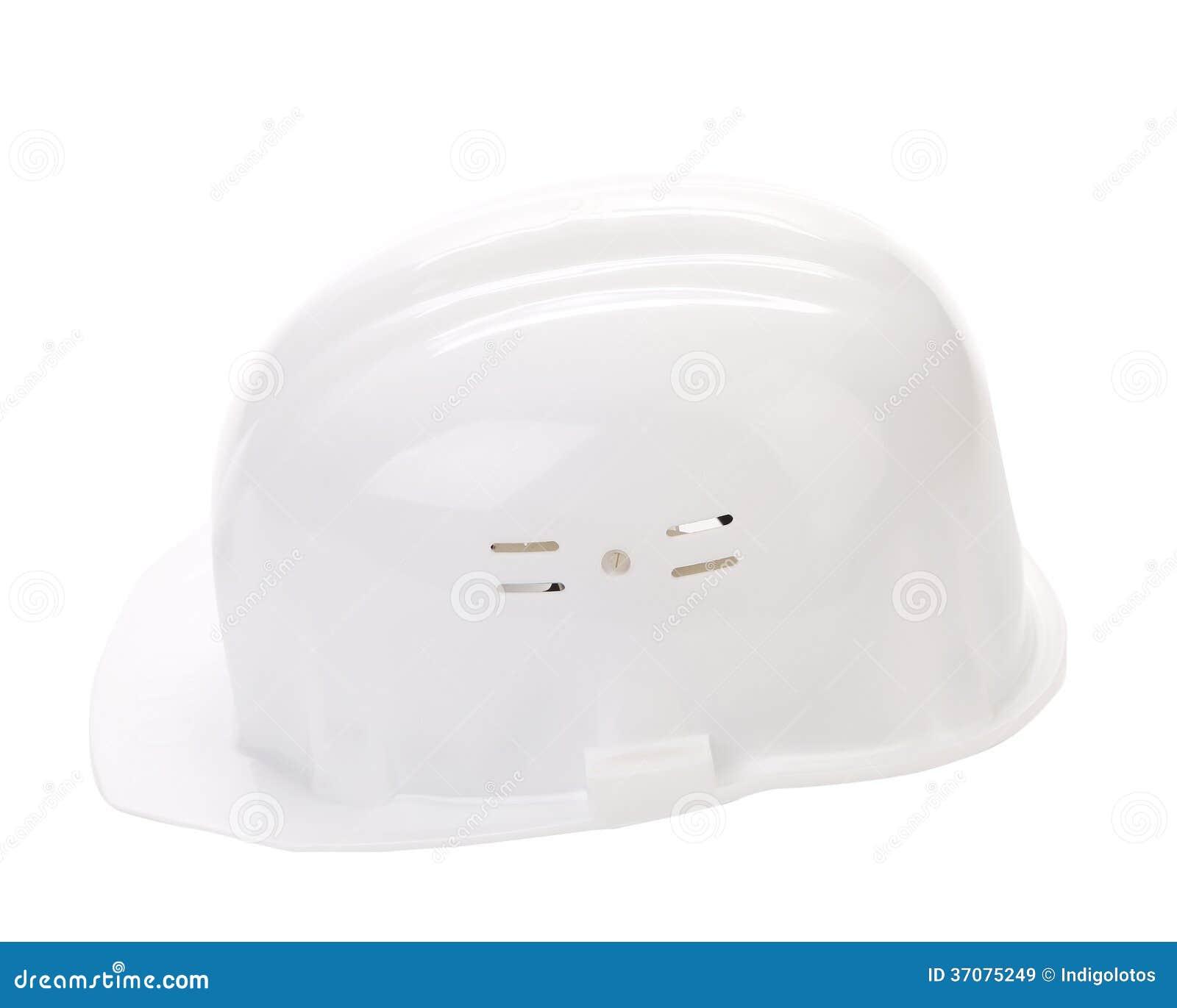 Download Biały ciężki kapelusz. obraz stock. Obraz złożonej z odosobniony - 37075249