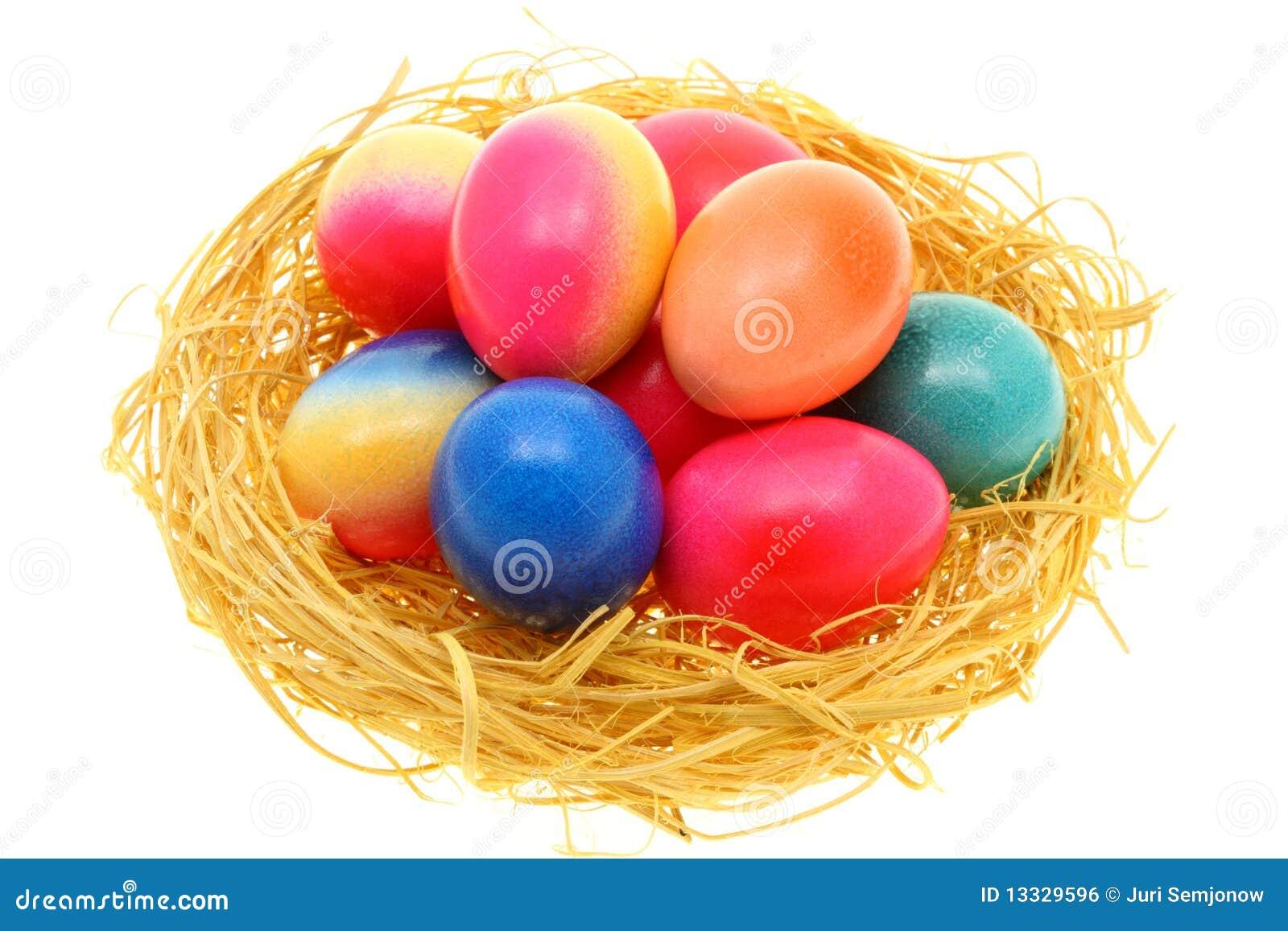 Biały Easter jajka