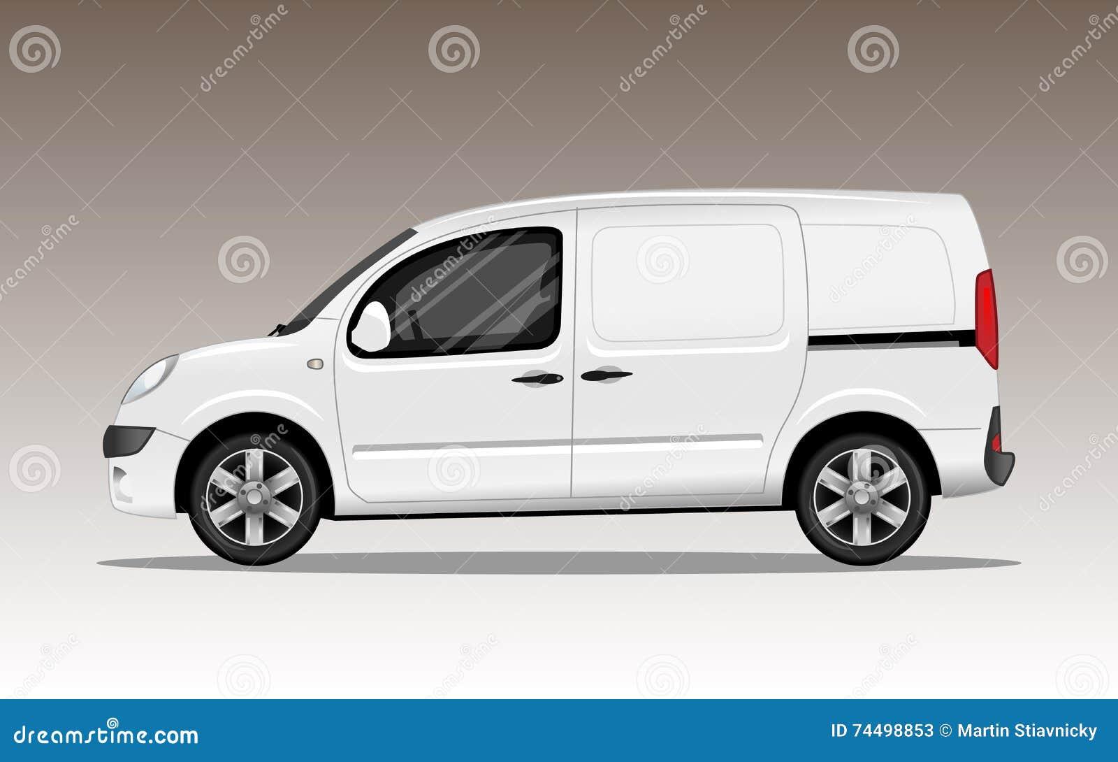 Biały handlowy pojazd z aliaży kołami