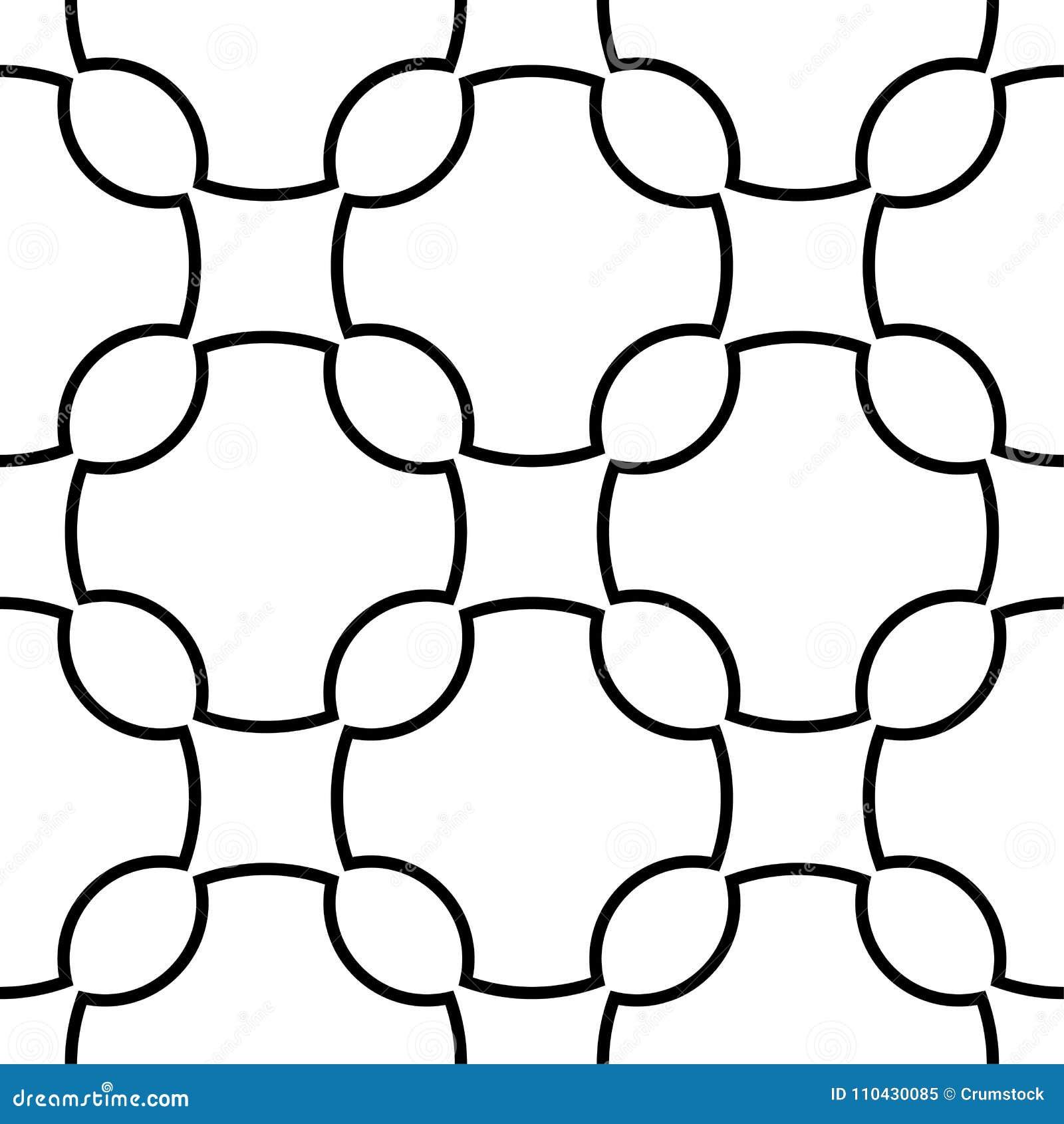 Biały i czarny geometryczny ornament bezszwowy wzoru