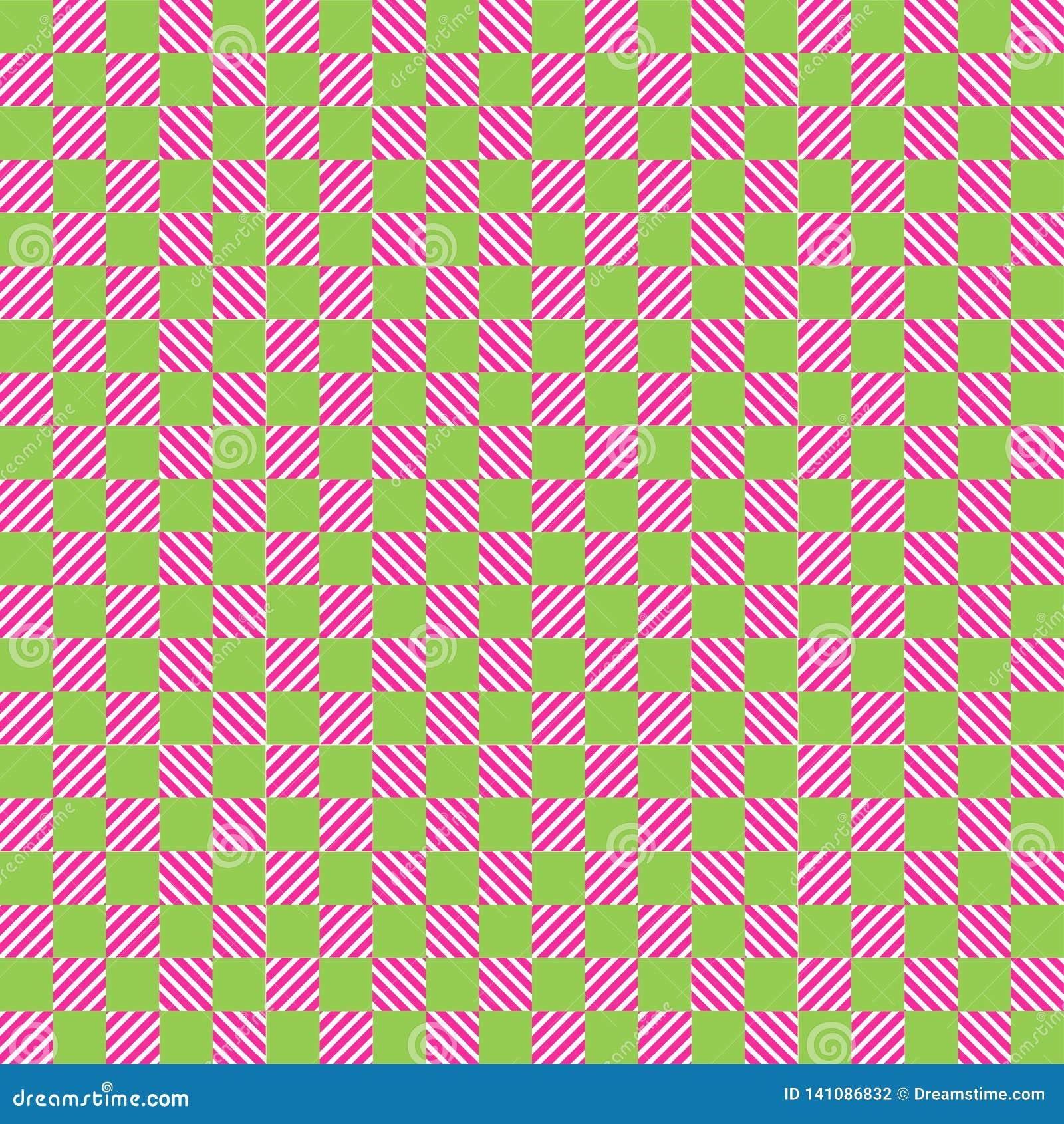Biały i jaskrawy różowy tekstura szachy wzór