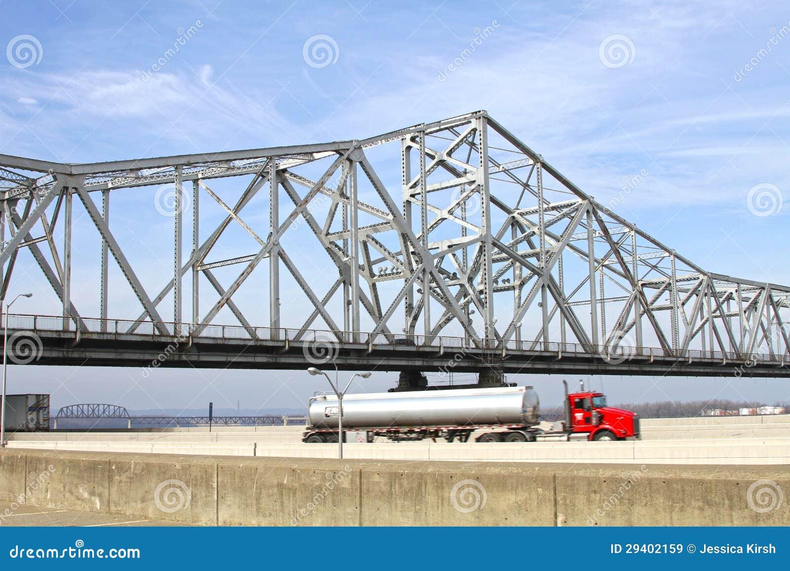 Biały jezdni rzeki most