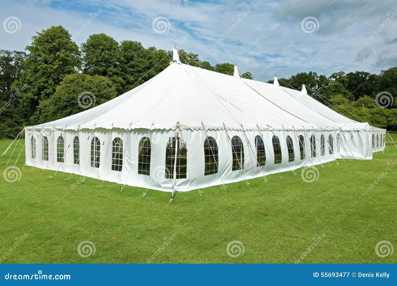 Biały markizy wydarzenia namiot