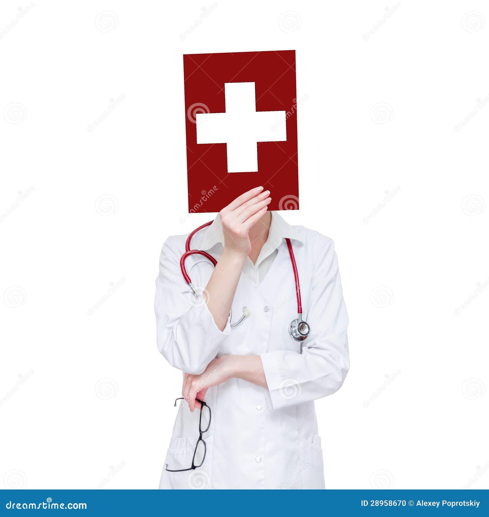 Biały medyczny krzyż