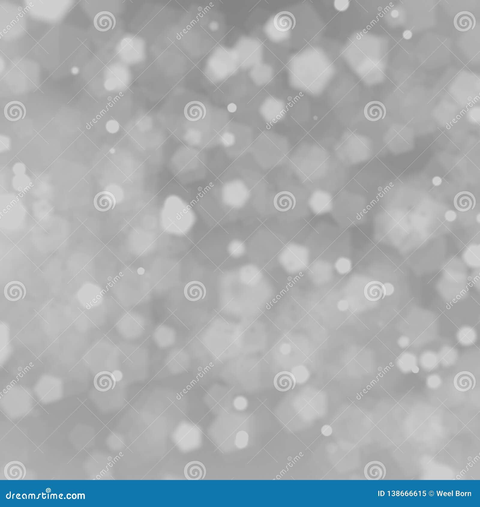 Biały pentagonów bokehs tło