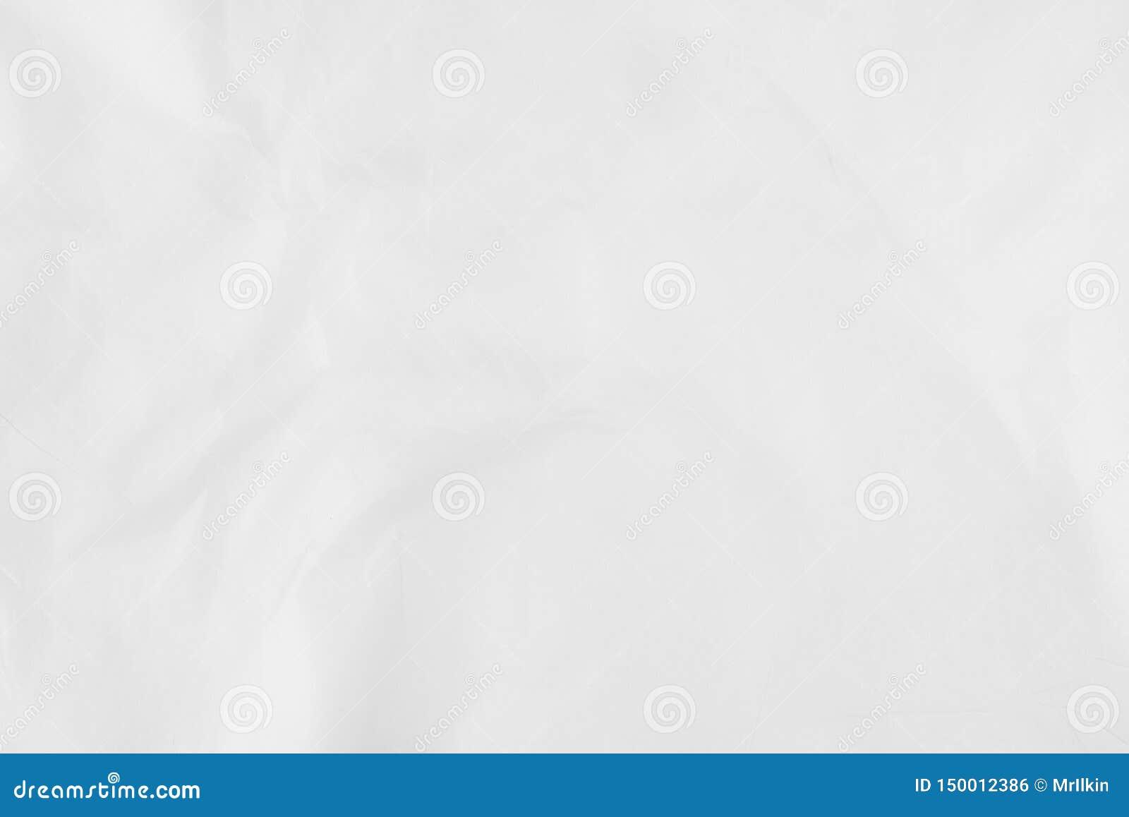 Biały prześcieradło papier z drobnymi chyłami