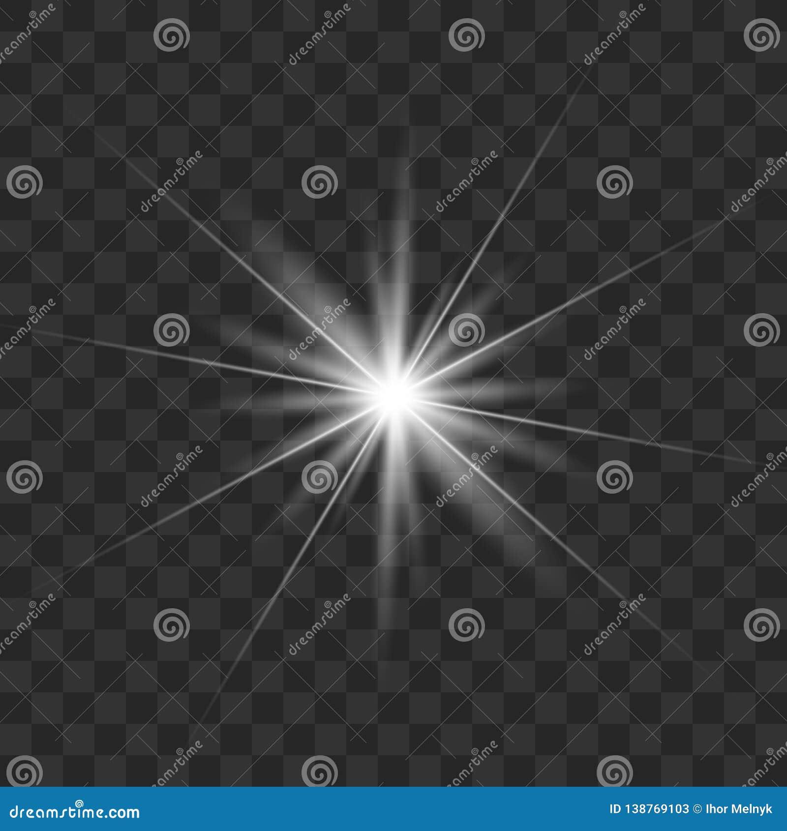 Biały rozjarzony światło