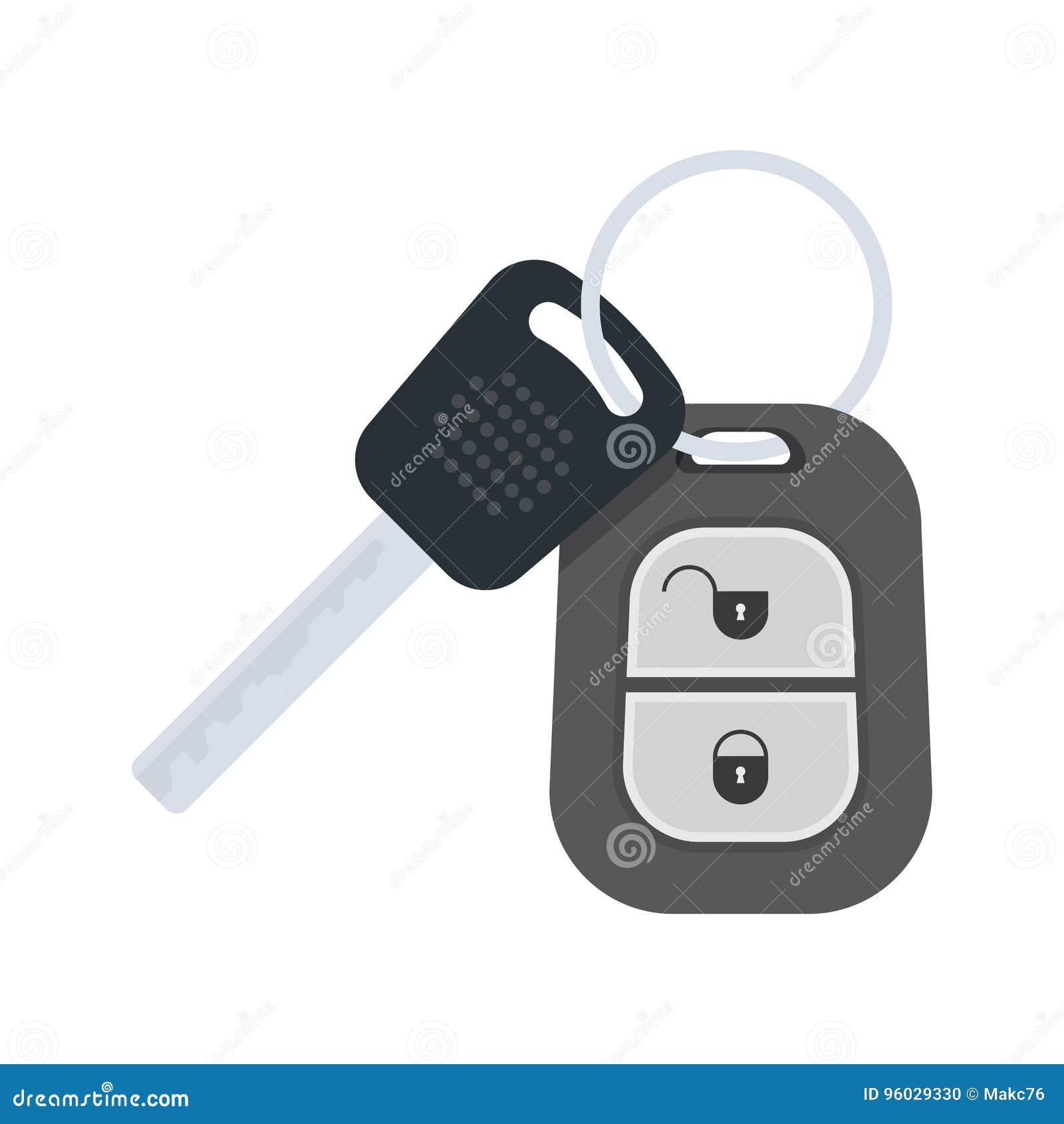 Biały samochodowi tło klucze