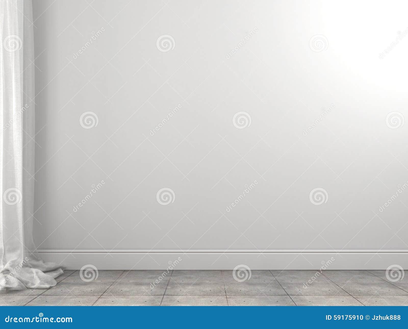 Biały tło zasłony i ściana