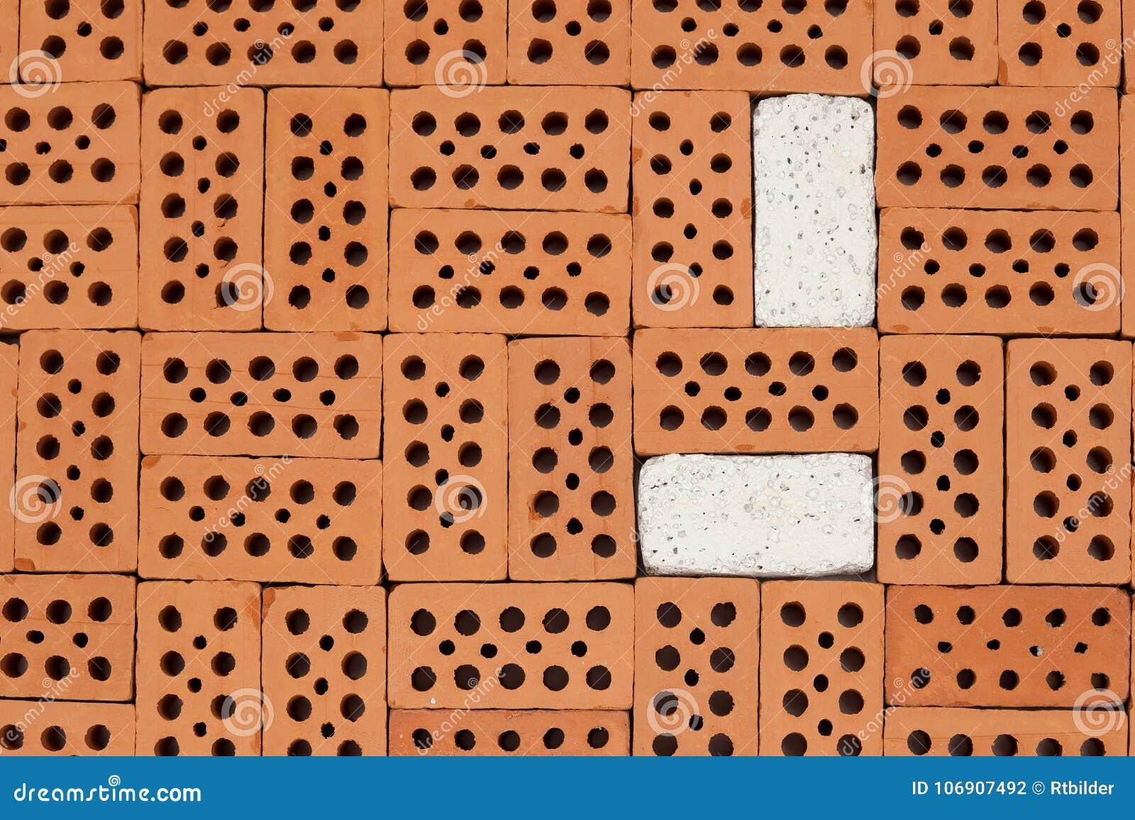 Białych i czerwonych cegieł wzór