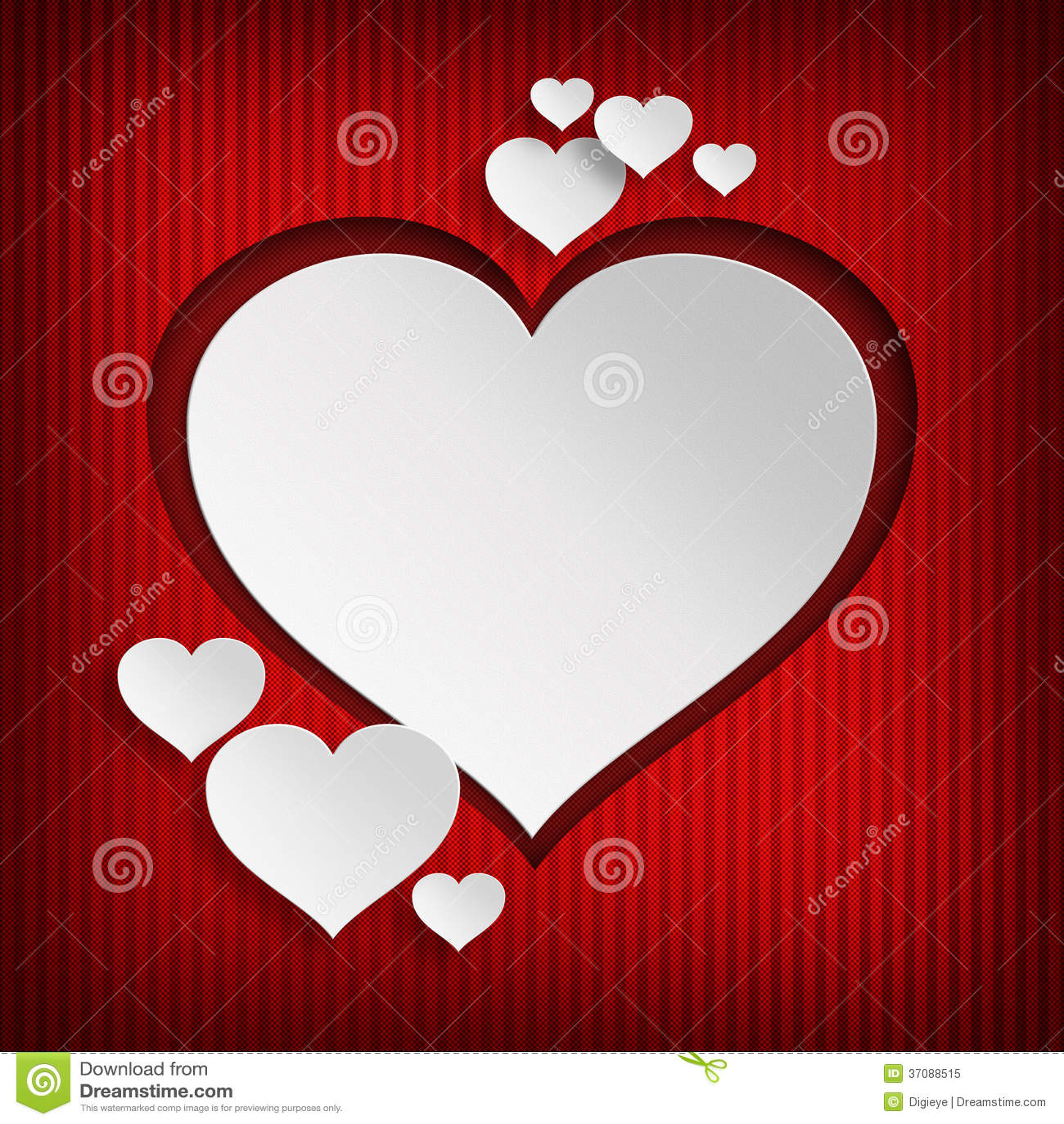 Download Biali Serca Na Czerwonym Tle Ilustracji - Ilustracja złożonej z tło, wyznaczający: 37088515