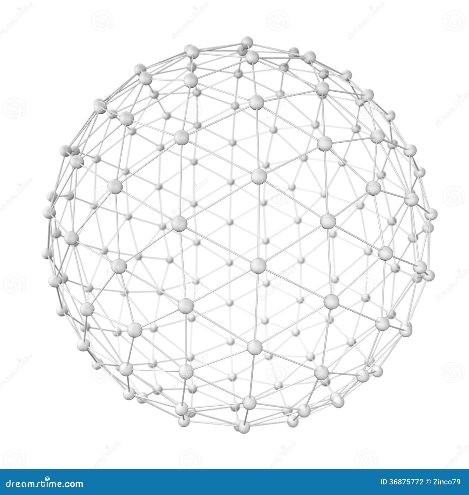 Download Bianco della sfera illustrazione di stock. Illustrazione di cerchio - 36875772