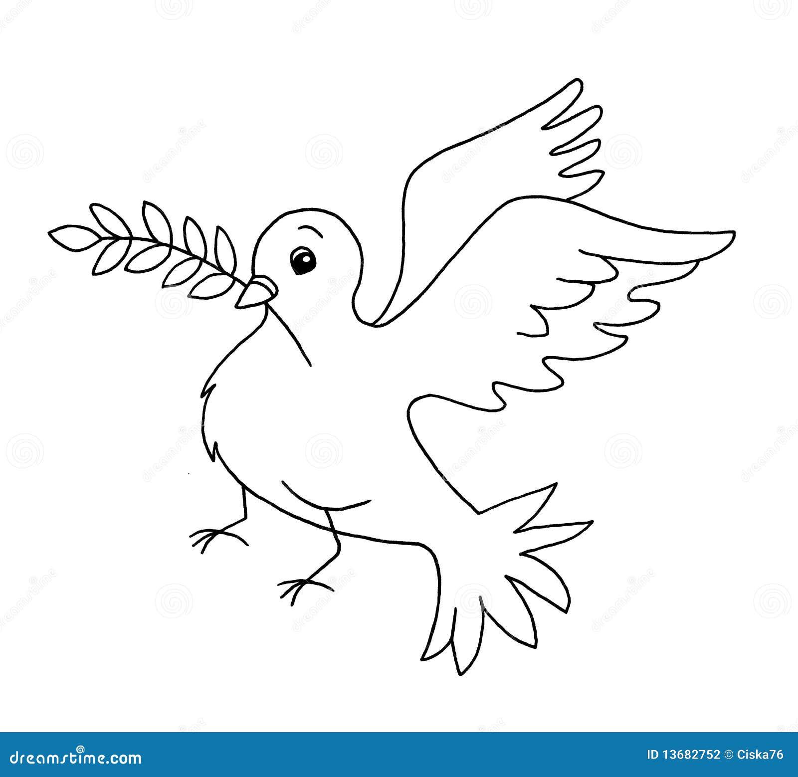 Pace Bianco E Nero in bianco e nero - simbol di pace illustrazione di stock