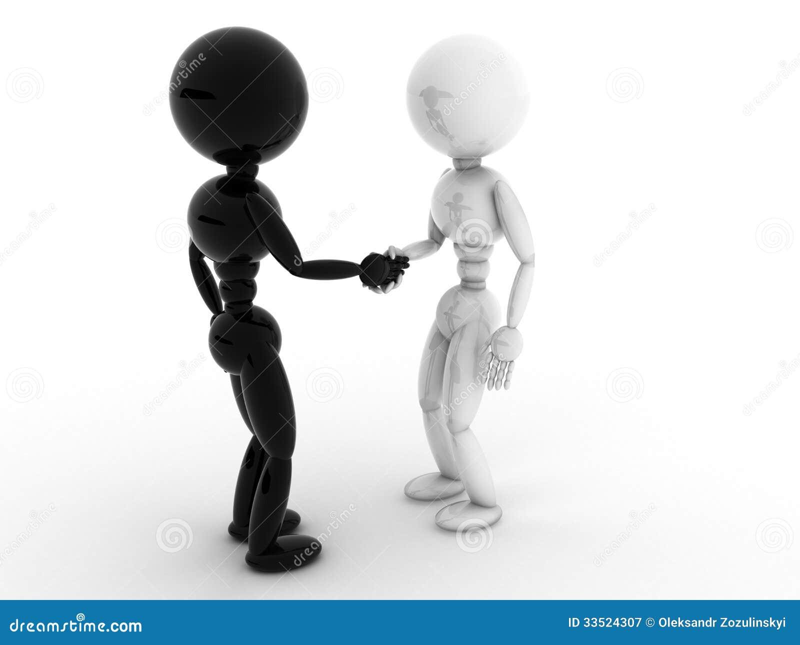 bianco e persone di colore che stringono le mani 2. Black Bedroom Furniture Sets. Home Design Ideas