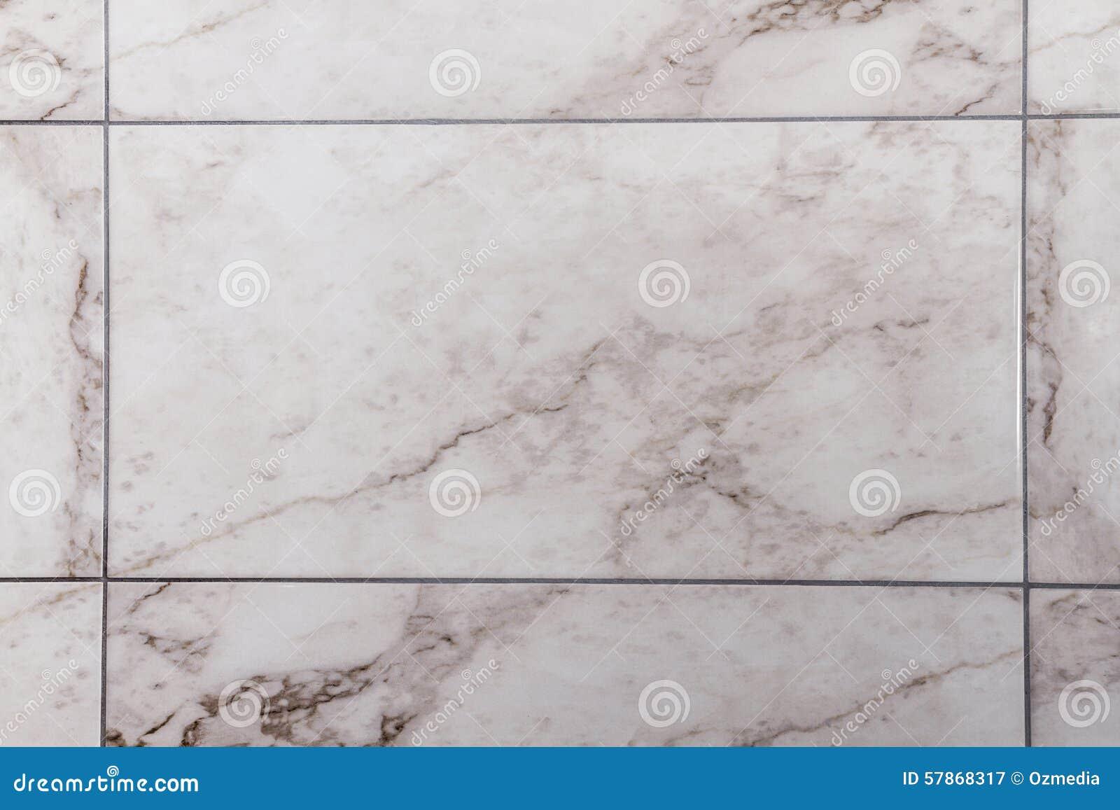 Bianco piastrella di ceramica del tipo di marmo grigia immagine