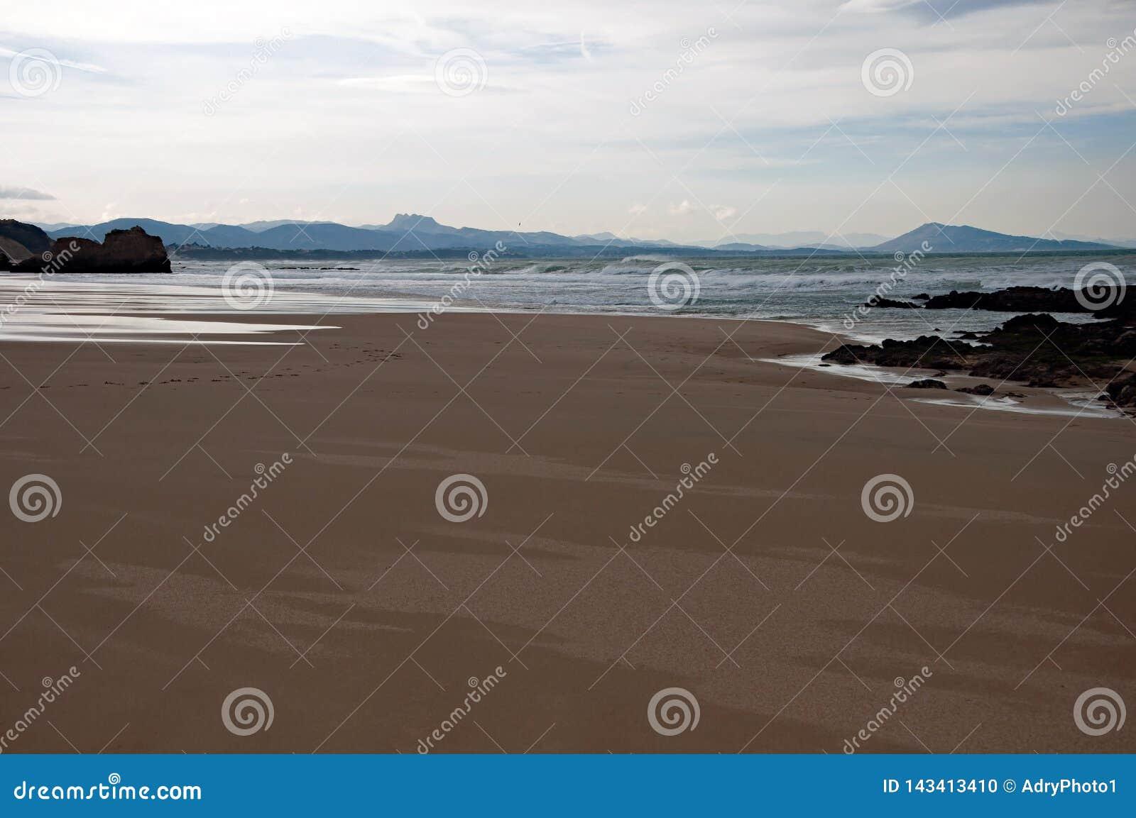 Biarritz, in het gebied van Aquitaine van Frankrijk