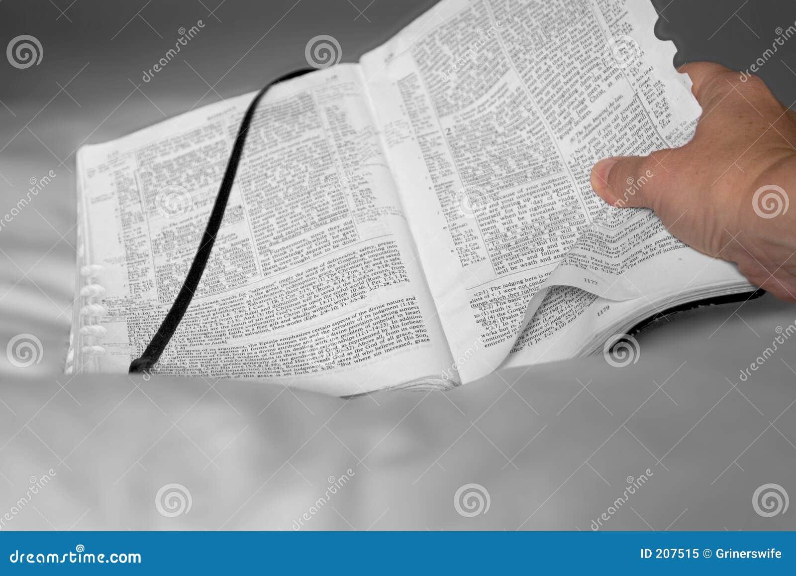 Bibbia e mano