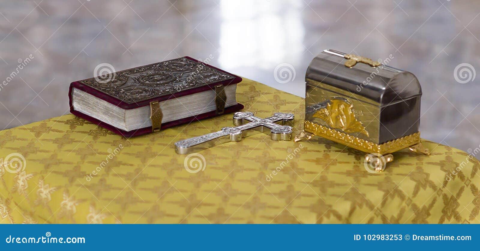 Bibel-, ortodoxkors och dop- ask