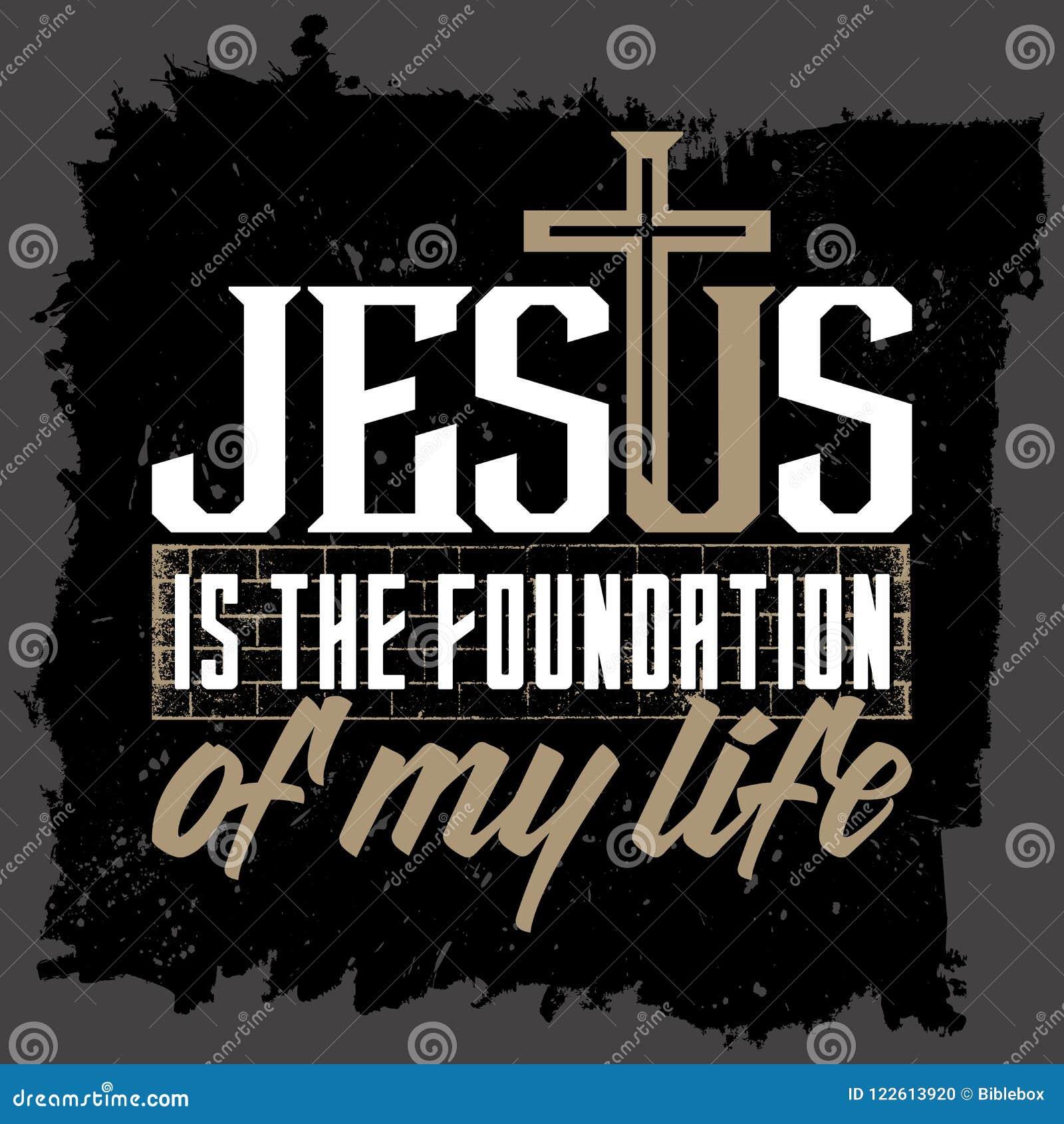 Bibelbokstäver Kristen konst Jesus är fundamentet av mitt liv