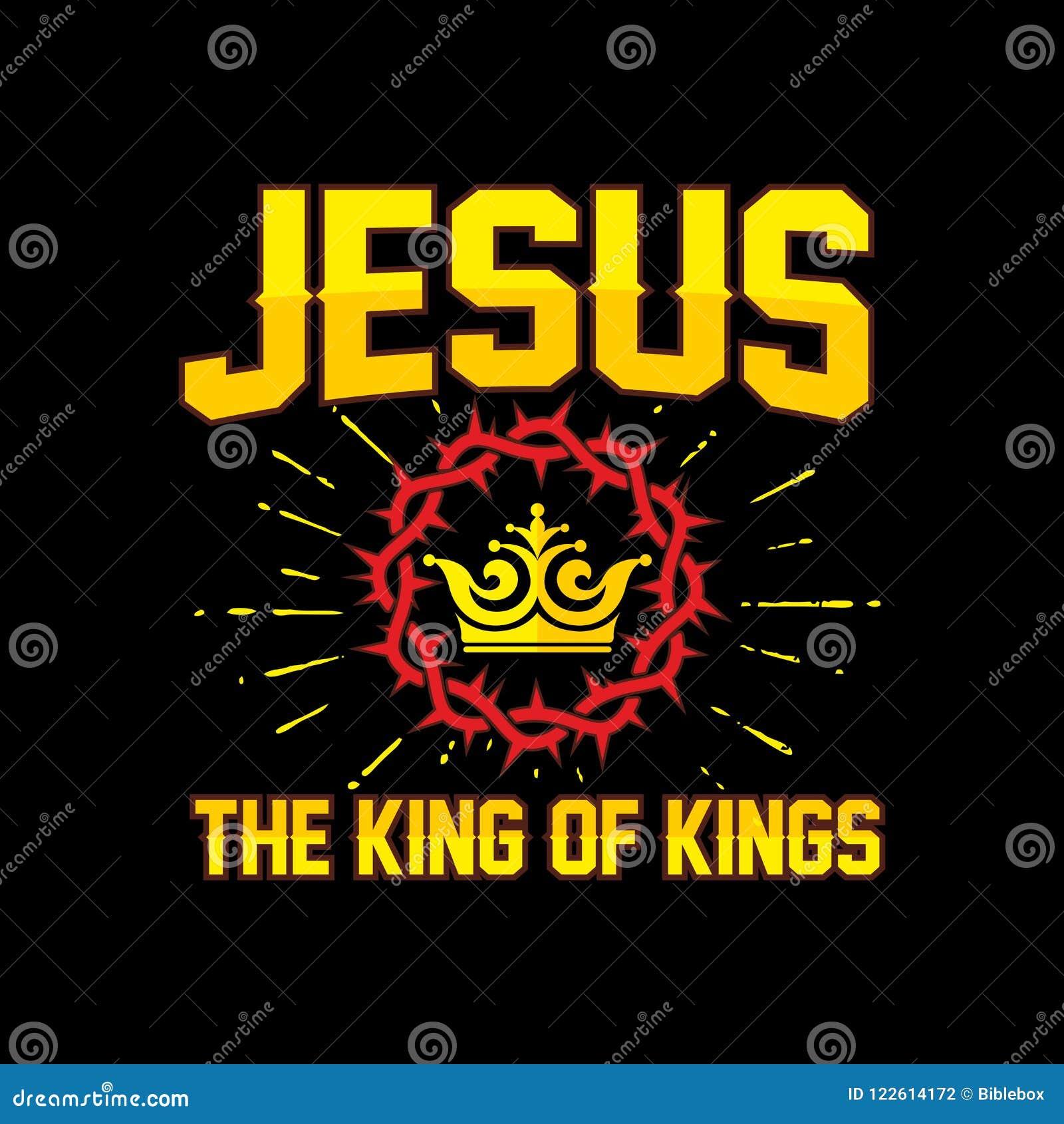 Bibelbokstäver Kristen konst Jesus - konungen av konungar