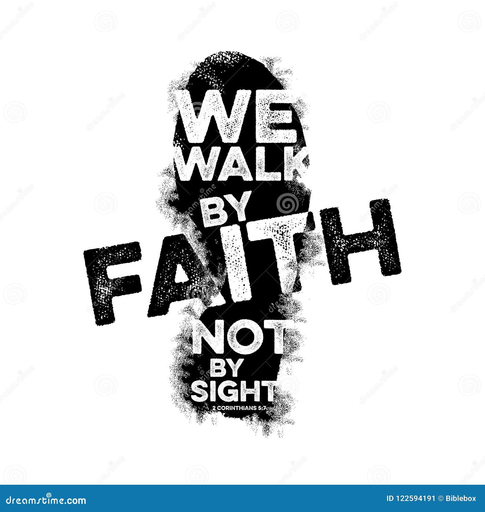 Bibelbokstäver Kristen konst Vi går vid tro, inte vid sikt