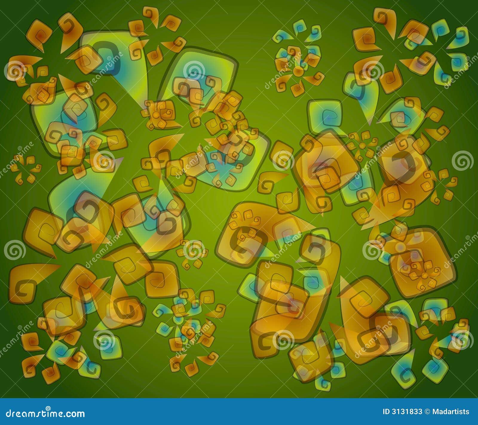 Bibeloty abstrakcyjna zielona konsystencja