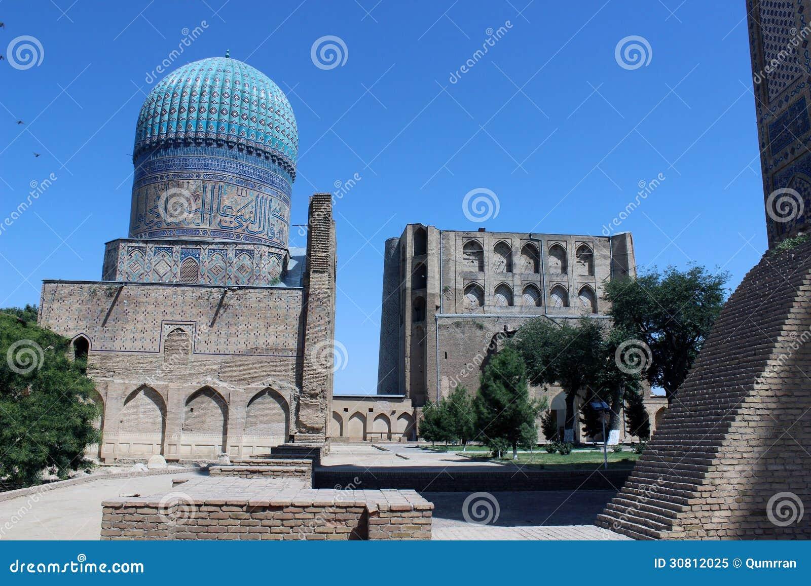 bibi khanym清真寺在撒马而罕,乌兹别克斯坦